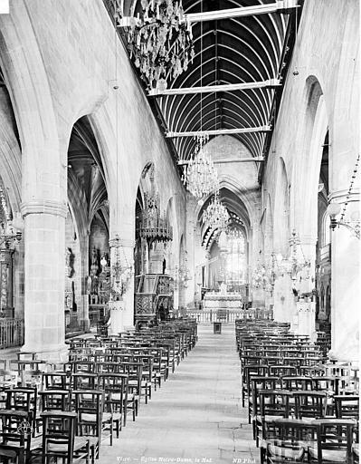 Eglise Notre-Dame Nef, Neurdein Frères (photographes),