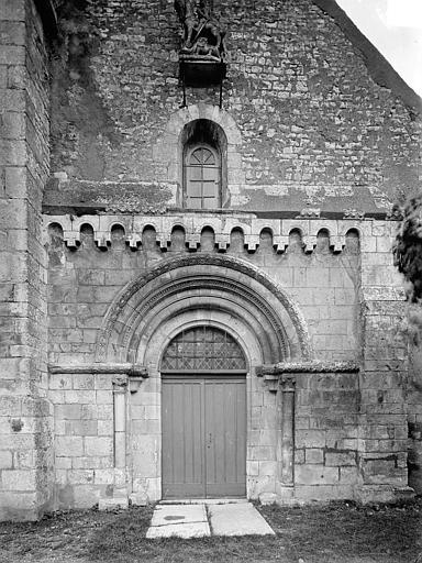 Eglise Saint-Vérain Façade ouest, Heuzé, Henri (photographe),
