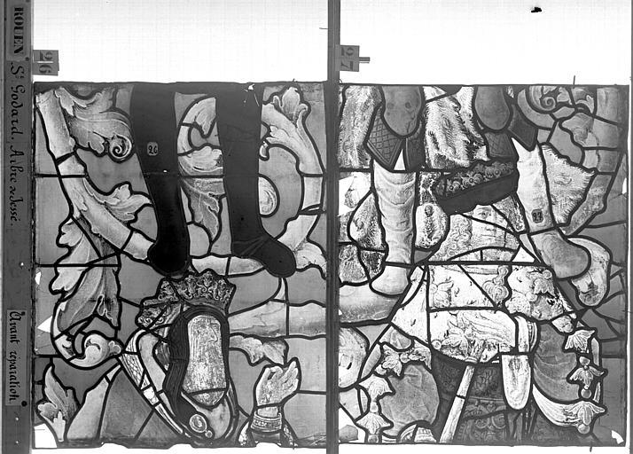 Eglise Saint-Godard Vitrail baie 18, Arbre de Jessé, cinquième panneau, en haut, Heuzé, Henri (photographe),