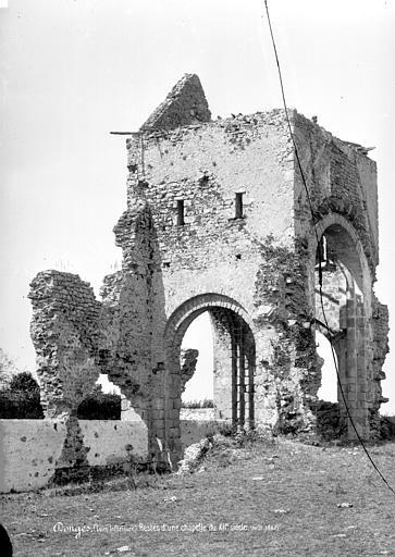 Chapelle (ancienne) Vue d'ensemble des ruines, Mieusement, Médéric (photographe),