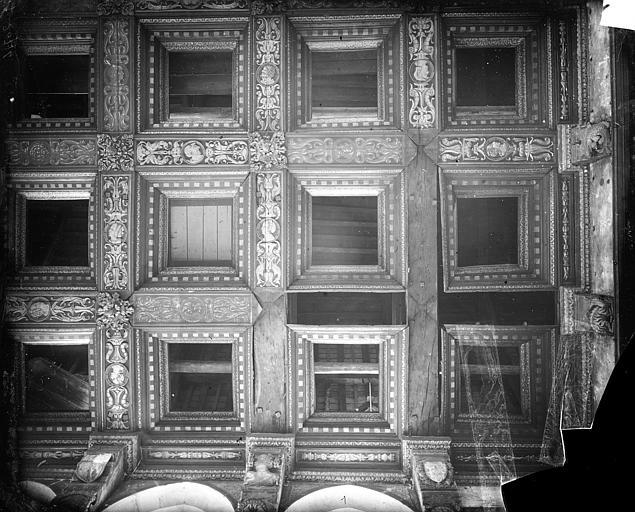 Palais de Justice Chambre Dorée : Plafond à caissons, Delaunay (photographe),