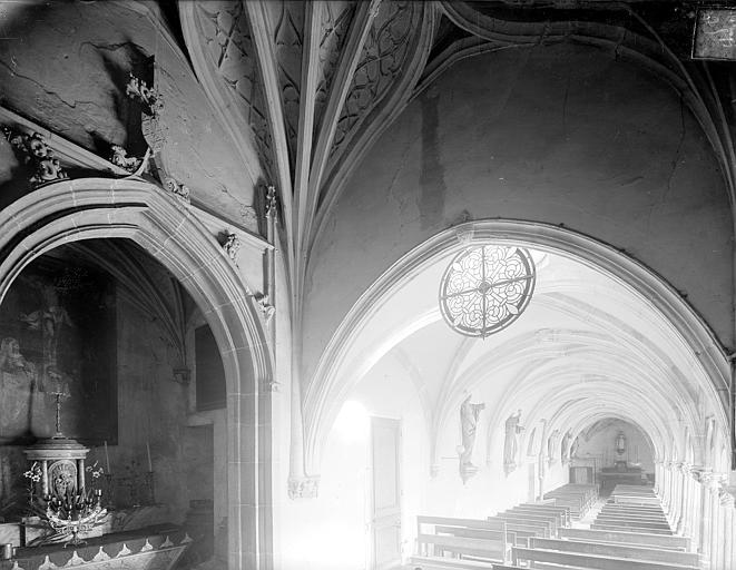Cloître capitulaire de Saint-Vincent (ancien) Vue intérieure de la galerie est, Heuzé, Henri (photographe),