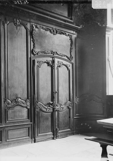 Abbaye aux Hommes (ancienne) Réfectoire, lambris, Service photographique,