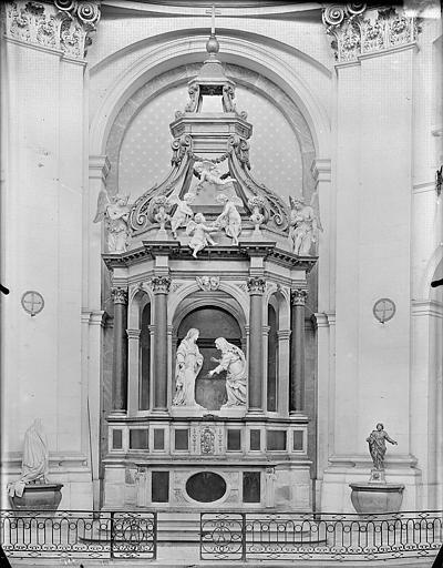 Hospice Sainte-Anne (ancien) Maître-autel, vue d'ensemble, Gossin (photographe),