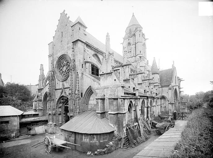 Eglise de Saint-Etienne-le-Vieux (ancienne) Ensemble sud-ouest, Heuzé, Henri (photographe),