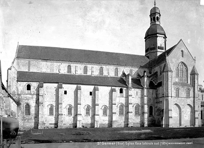 Eglise abbatiale Façade sud, Mieusement, Médéric (photographe),