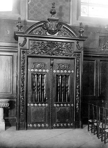 Hôpital Chapelle : porte intérieure, Heuzé, Henri (photographe),