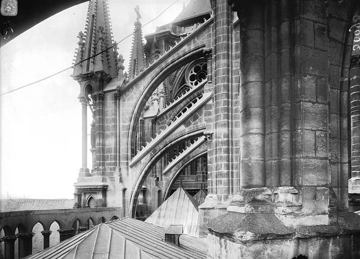 Cathédrale Notre-Dame Arcs-boutants de l'abside, Lajoie, Abel,