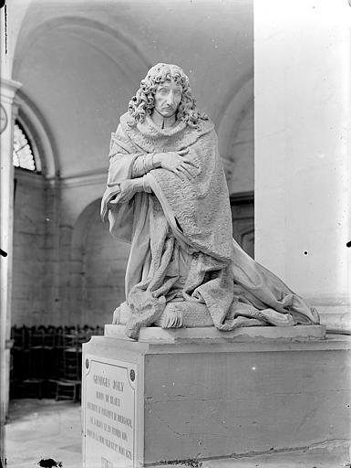 Hospice Sainte-Anne (ancien) Chapelle Sainte-Anne : Monument et statue funéraire de Georges Joly, Gossin (photographe),