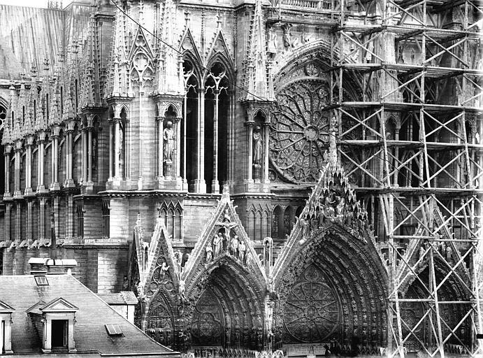 Cathédrale Notre-Dame Façade ouest, partie médiane, Lajoie, Abel,