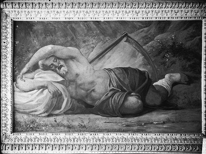Domaine national, château Peintures murales de la galerie Henri II, le Temps, Service photographique,
