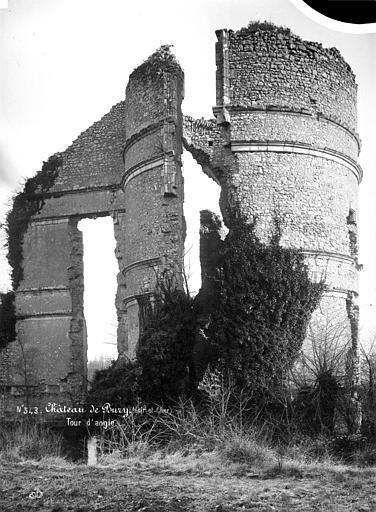 Château (ancien) Tour d'angle, restes, Mieusement, Médéric (photographe),