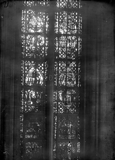 Cathédrale Notre-Dame Chapelles du choeur, vitrail D', Gaudin,