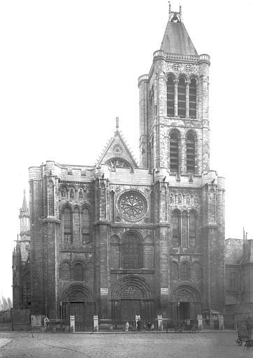 Basilique Saint-Denis Façade ouest, Durand, Jean-Eugène (photographe),