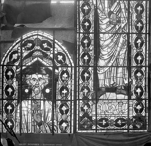 Cathédrale Saint-Etienne Vitrail : Joël, Leprévost (photographe),