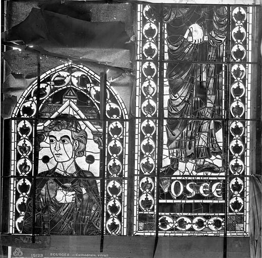 Cathédrale Saint-Etienne Vitrail : Osée, Leprévost (photographe),