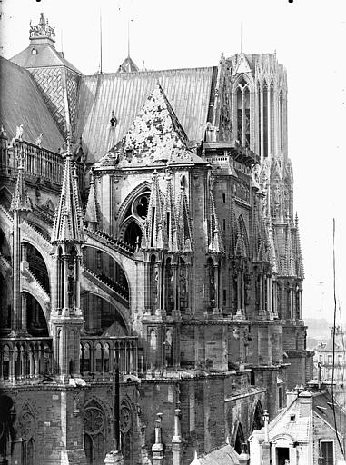 Cathédrale Notre-Dame Arcs-boutants de l'abside et transept, au nord, Lajoie, Abel,