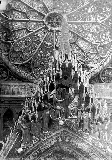 Cathédrale Notre-Dame Portail ouest, pignon de la porte centrale, Lajoie, Abel,