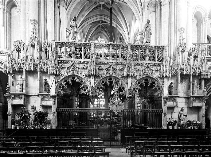 Eglise de la Madeleine Jubé, côté de la nef, Robert, Paul (photographe),
