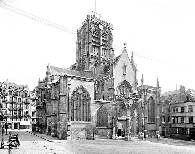 Eglise Saint-Vincent (ancienne) Ensemble ouest, Neurdein Frères (photographes),