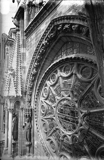 Cathédrale Notre-Dame Ensemble de la voussure, côté gauche de la rose sud, Lajoie, Abel,