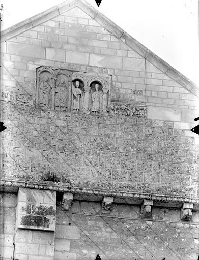 Eglise Saint-Hilaire-le-Grand Façade nord : Pignon du transept, Gossin (photographe),
