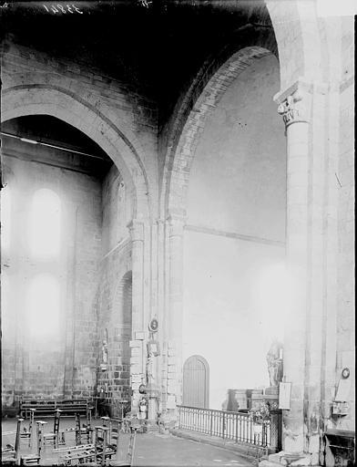 Eglise de Locmaria Croisée du transept, Enlart, Camille (historien),