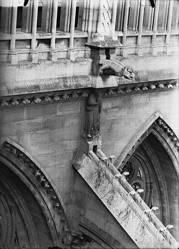 Cathédrale Notre-Dame Cariatide et gargouille, façade nord, sixième travée, Lajoie, Abel,