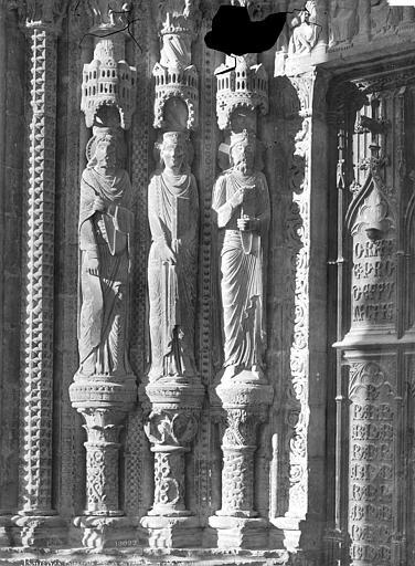 Cathédrale Saint-Etienne Porche, statues du portail sud, côté gauche, Mieusement, Médéric (photographe),