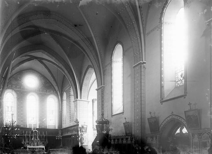 Eglise Saint-André Nef et choeur, Enlart, Camille (historien),