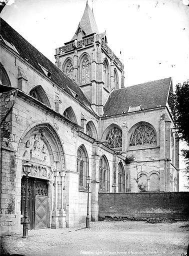 Eglise Saint-Taurin Façade sud : Portail, transept et clocher, Mieusement, Médéric (photographe),