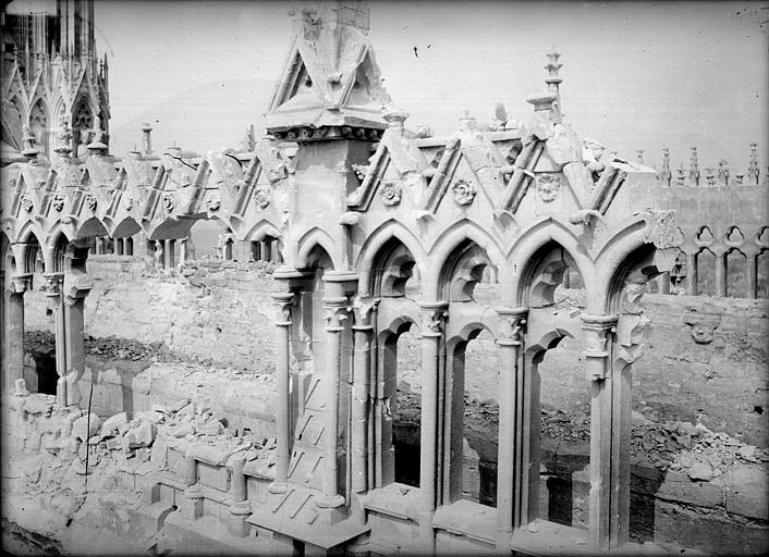 Cathédrale Notre-Dame Façade sud : galerie haute, Sainsaulieu, Max (photographe),