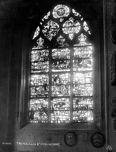 Eglise Saint-Nicolas Vitrail, Robert, Paul (photographe),