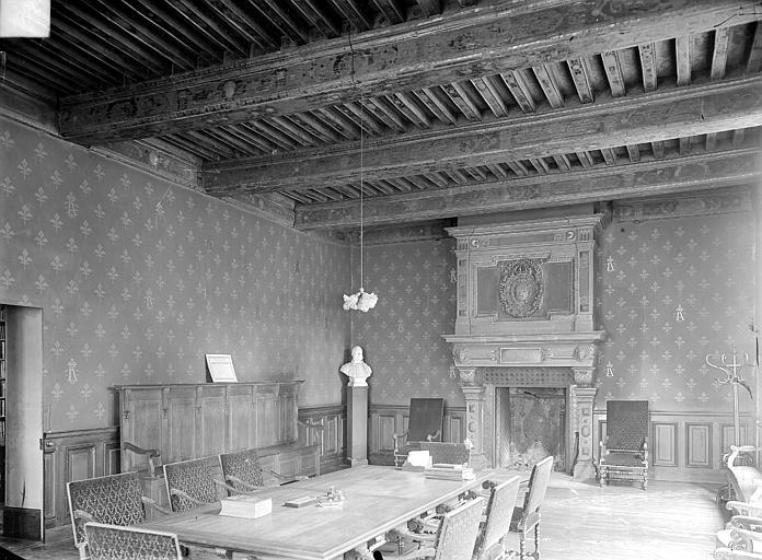 Palais de Justice Salle des avocats : vue d'ensemble, Gossin (photographe),