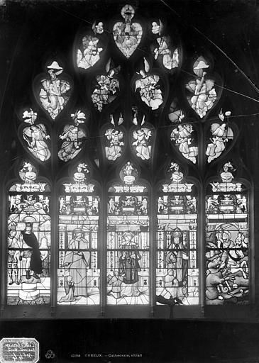 Cathédrale Notre-Dame Vitrail du bas-côté nord : Jugement de Salomon, Leprévost (photographe),