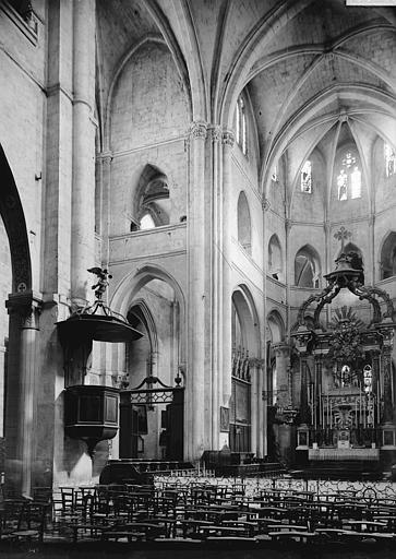 Basilique Saint-Paul-Serge Transept et choeur, Enlart, Camille (historien),