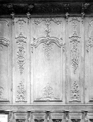 Cathédrale Notre-Dame-de-l'Assomption Stalles, premier panneau, nord, Heuzé, Henri (photographe),