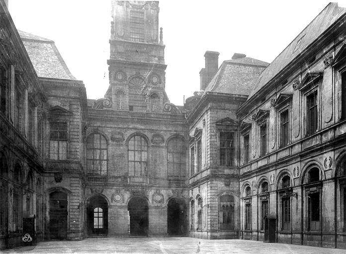 Hôtel de Ville Façade sur cour, Durand, Eugène (photographe),