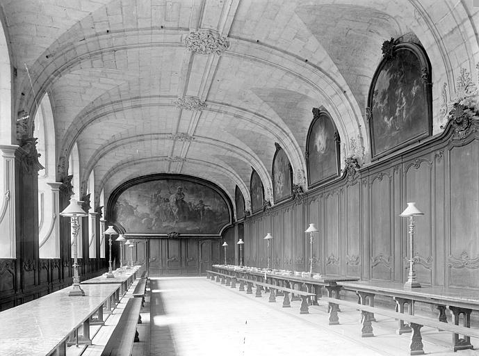 Abbaye aux Hommes (ancienne) Grand réfectoire : Vue intérieure, vers l'ouest, Durand, Jean-Eugène (photographe),