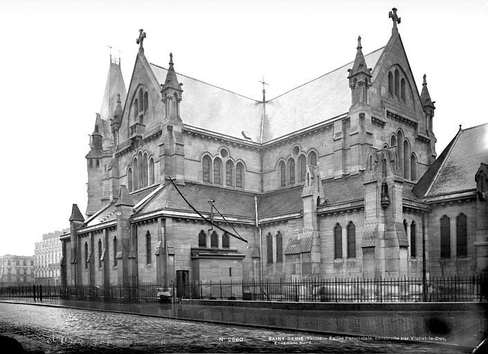 Eglise Saint-Denys-de-l'Estrée Ensemble sud-est, Mieusement, Médéric (photographe),
