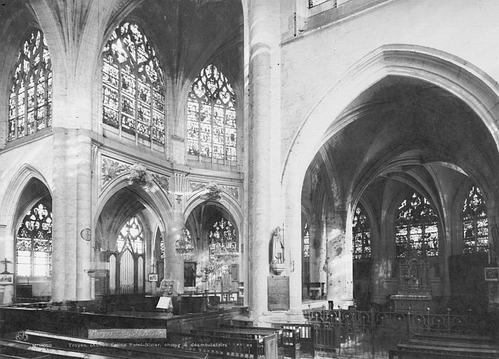 Eglise Saint-Nizier Choeur, bas-côté, Durand, Eugène (photographe),