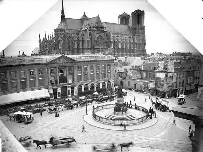 Cathédrale Notre-Dame Ensemble nord-est et place Royale, Lajoie, Abel,