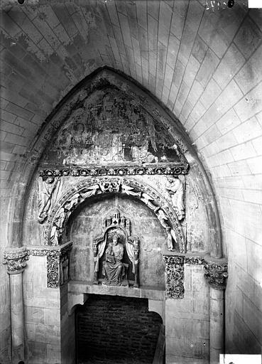 Cathédrale Notre-Dame Façade nord, porte du cloître, Lajoie, Abel,