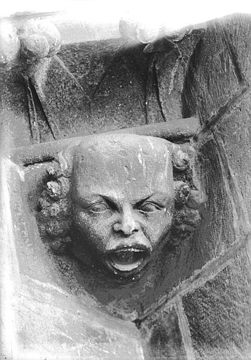Cathédrale Notre-Dame Tête d'amortissement, chauve, Lajoie, Abel,