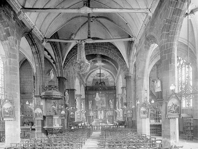 Eglise Saint-Sulpice Vue intérieure de la nef vers le choeur, Durand, Jean-Eugène (photographe),
