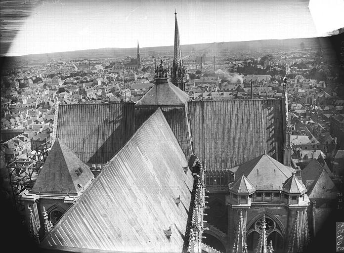 Cathédrale Notre-Dame Toiture de la nef et du transept, Lajoie, Abel,