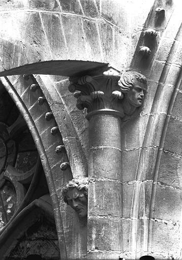 Cathédrale Notre-Dame Chapiteau et têtes d'amortissement, bras sud du transept, Lajoie, Abel,