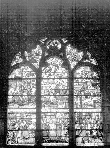 Eglise Saint-Martin-es-Vignes Vitrail, Louzier (photographe),
