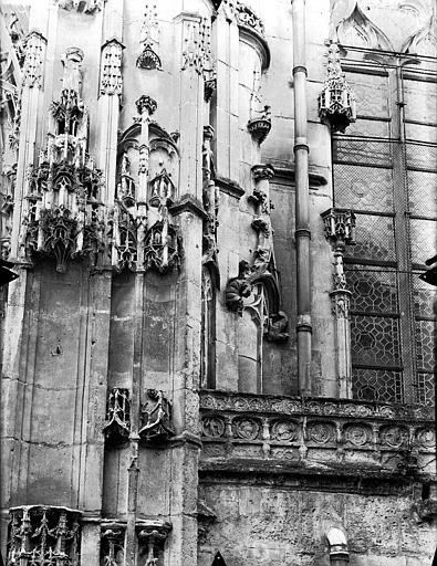 Eglise Saint-Gervais-Saint-Protais Portail nord, console et dais, Gossin (photographe),