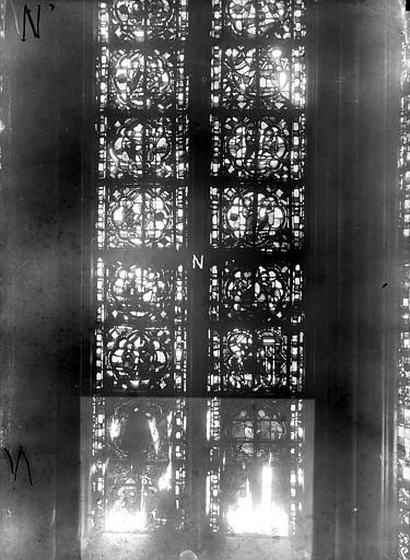 Cathédrale Notre-Dame Chapelles du choeur, vitrail N', Gaudin,